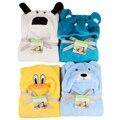 Adorável forma animal bonito kid baby bath towel towel bebê roupão de banho com capuz manto bebê neonatal cobertor segurar a ser