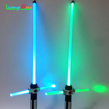 New 2 PCS Boy Toys Lightsaber Star Laser Sword Luminous Music Childrens Outdoor Toy