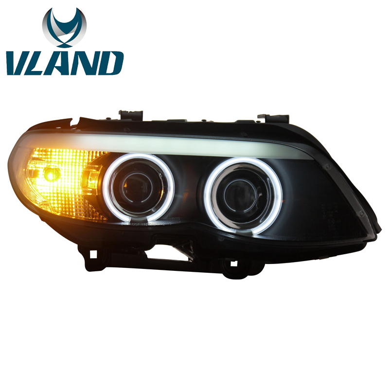 VLAND Factory For Auto Head Lamp For E53 Headlight 2003 2006 For X5 LED Head Light H7 Xenon Lens Plug And Play+Waterproof 35W