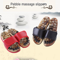 Natural Pebble Stone Foot Massage Shoes Massage Foot Slipper Reflexology Sandals WS99