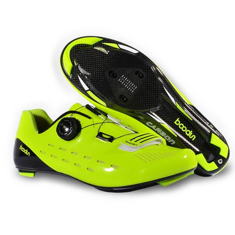 Новая дорожная велосипедная обувь дышащая непромокаемая нескользящая подошва из углеродного волокна Professional Lock Shoes уличная спортивная вело