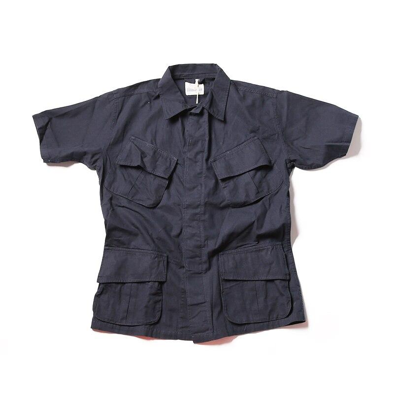 Sin STOCK TCU Ripstop Slant bolsillo jungla camisas militar fatiga mangas cortas-in Camisas casuales from Ropa de hombre    2
