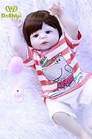 Original 57cm full silicone reborn baby dolls newborn babies boy girl dolls children toy dolls bebe boneca reborn menino