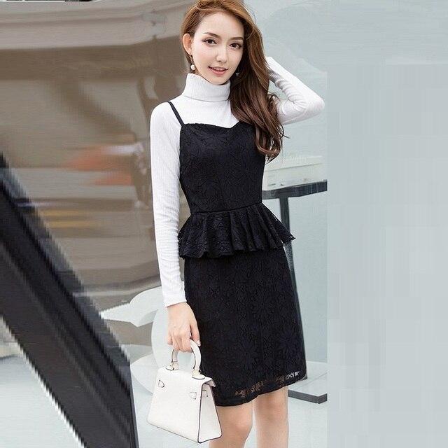 ed57d618b2edac New Arrival 2017 Women Sleeveless Strap Dress Warm Thick Velvet Office Lady  Package Hip Dress Tank