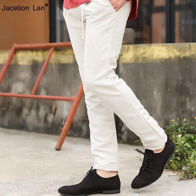 14a63fa1638 2016 New Design linen men Pants Men s Slim Fit Casual Pants men cotton  Fashion Straight Dress