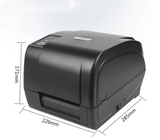 Impresora de etiquetas de calidad comercial con alta precisión, 300 dpi de impresión, doble motor de código de barras de transferencia térmica y térmica impresora
