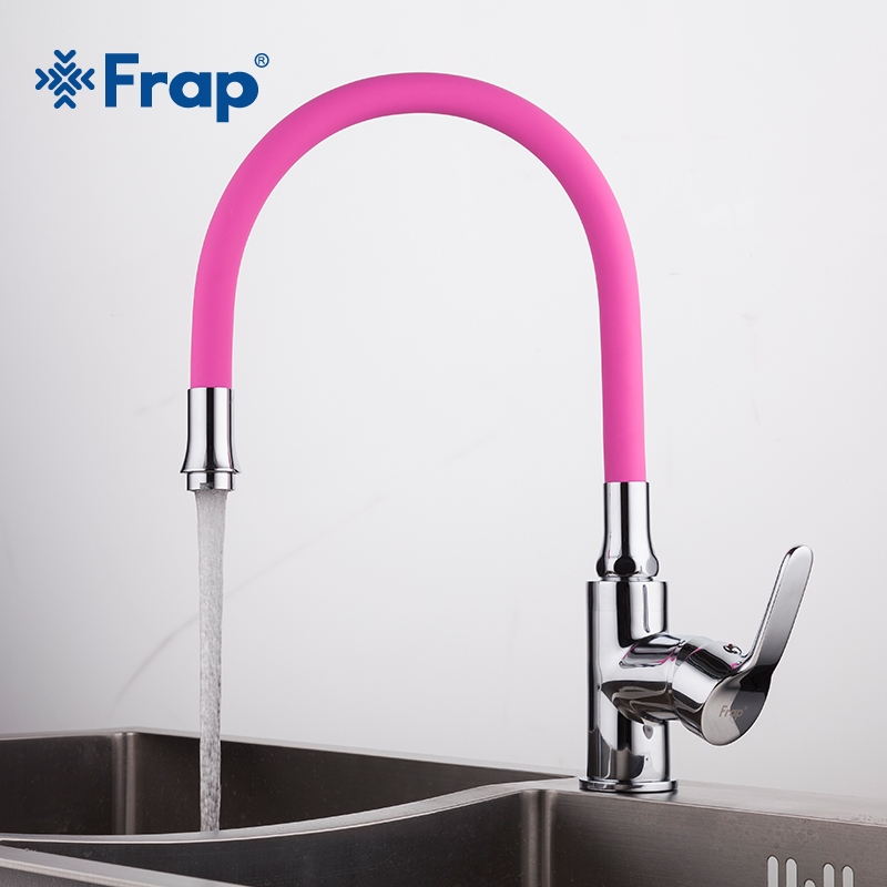 Frap Silica Gel Nose Any Direction Rotating Kitchen Faucet Cold and Hot Water Mixer Torneira Cozinha Single Handle Tap F4353 2