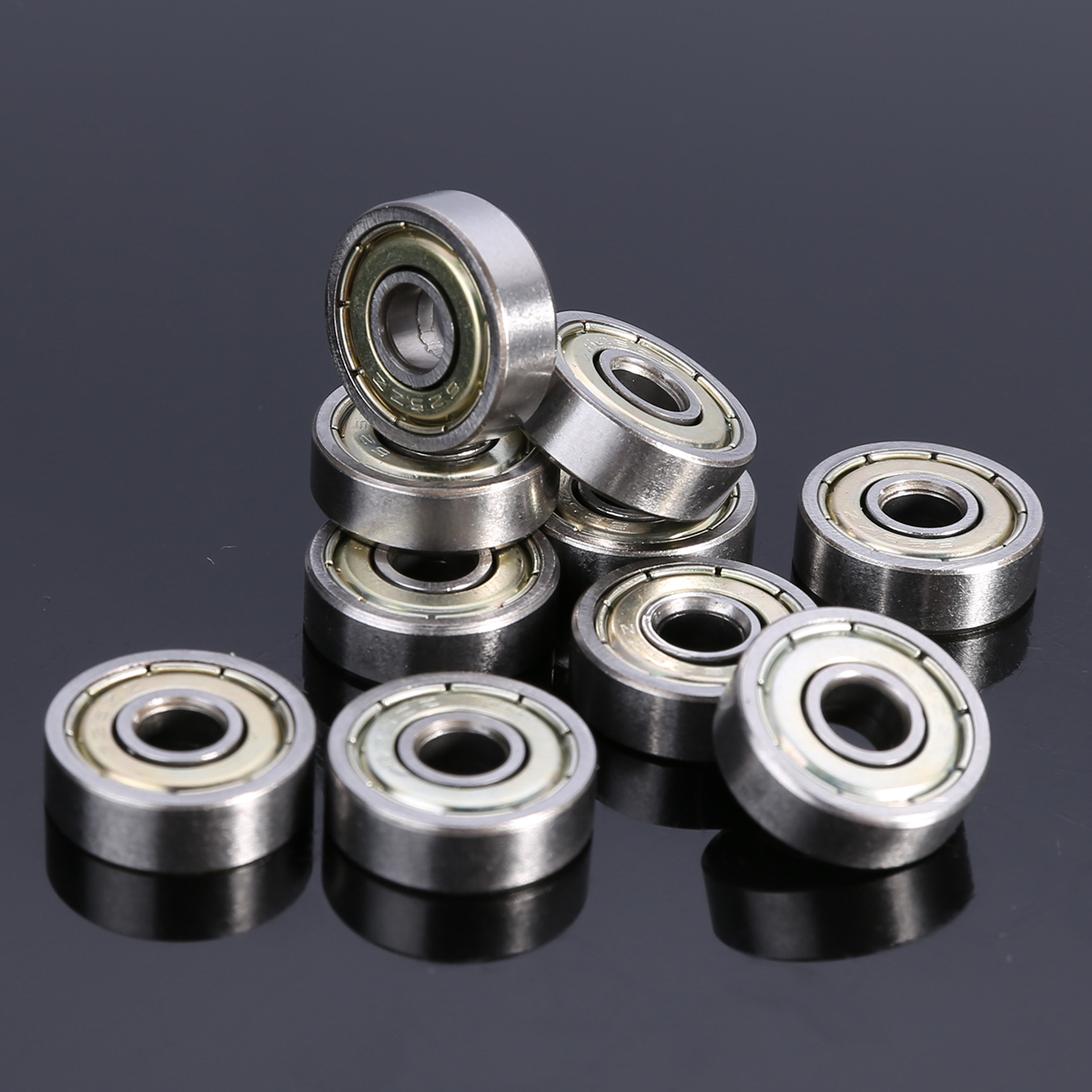10pcs/Lot New Miniature <font><b>625ZZ</b></font> Ball Bearings 5*16*5mm Mayitr Small Wear Carbon Steel Single Row Deep Groove Radial Ball Bearing image