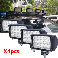 4pcs 6 Inch Offroad Led Work Lamp 45W Spot Flood Beam LED Working Driving Lights Bar 12V 24V For Jeep SUV ATV 4x4 Truck Tractor