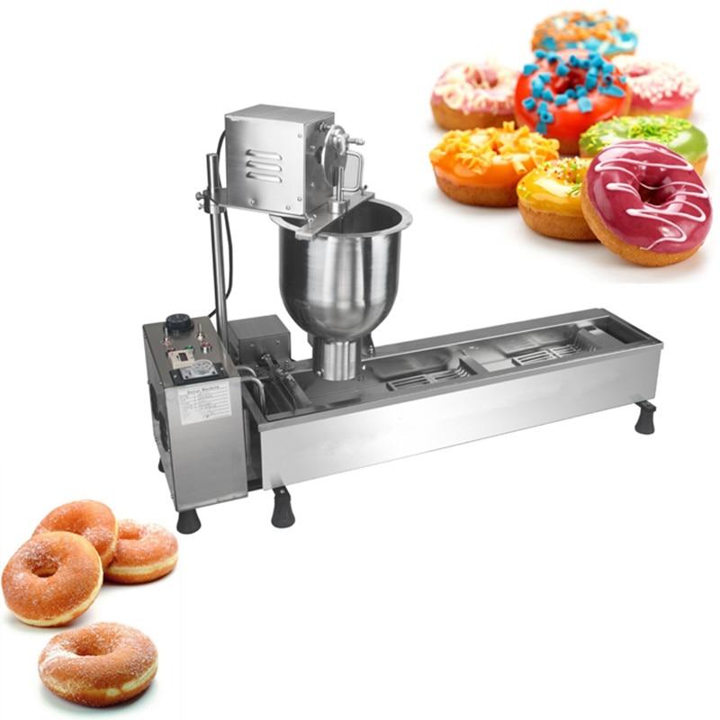 110V 220V Full-automatic Commercial Electric Donut Machine Stainless Steel Full-automatic Donut Maker Machine EU/AU/UK Plug 90mm big size donut waffle machine automatic electric mini commercial donut making machines