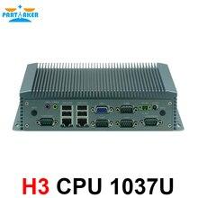 2 lan mini pc 9-30 v широкое напряжение тока 6 com промышленный компьютер с intel 1037u процессор
