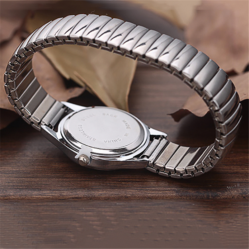 Men Women Wrist Watch Fashion Restoring Quartz Stainless Steel Elastic Strap Band Business Casual Watches Bracelets