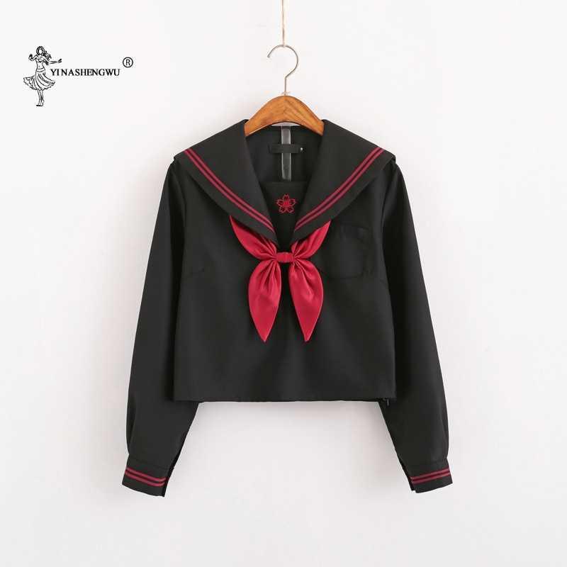 Faldas cortas de la versión del traje del marinero coreano japonés Falda plisada del uniforme de la Escuela de la muchacha de la escuela