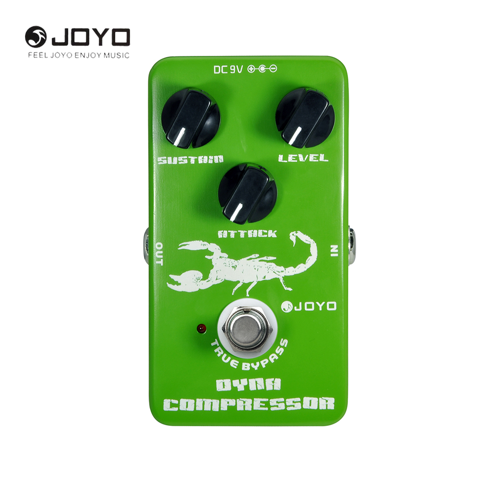 JOYO JF-10 Dynamic Compressor Guitar Effect Pedal With True Bypass 3 Knobs Electric Guitar Accessories aroma adr 3 dumbler amp simulator guitar effect pedal mini single pedals with true bypass aluminium alloy guitar accessories