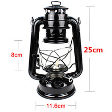 25cm Retro Classic Kerosene Lamp 6 Colors 235 LED Dimmable Kerosene Lanterns Wick Portable Lights Portable Lights Adornment