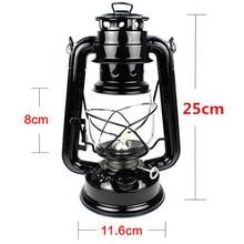 25cm Retro Classic Kerosene Lamp 6 Colors 235 LED Dimmable Kerosene Lanterns Wick Portable Lights Portable