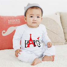 Newborn Clothing Baby clothes Cotton Printed Tower Brushed Baby Rompers/Infant Long sleeve Romper for babies Bebes Coveralls