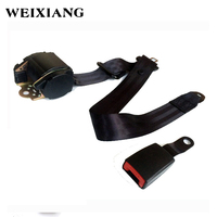 Universal 3 Point Retractable Car Safety Seat Belts Lap Safety Belt Seatbelts For Auto Cars With