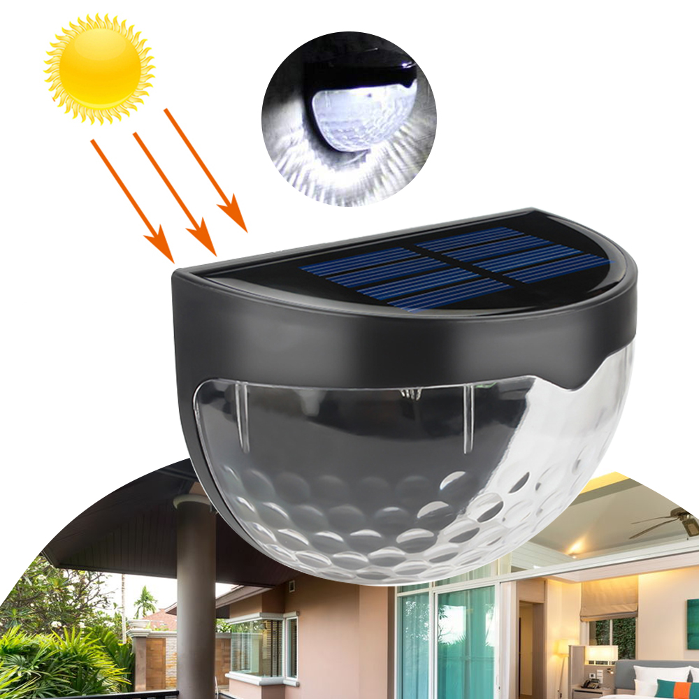 LED Solar Lamp Waterproof Solar Powered  Sensor Wall Light Auto ON/OFF For Outdoor Pathway Garden Patio Fence Lamp