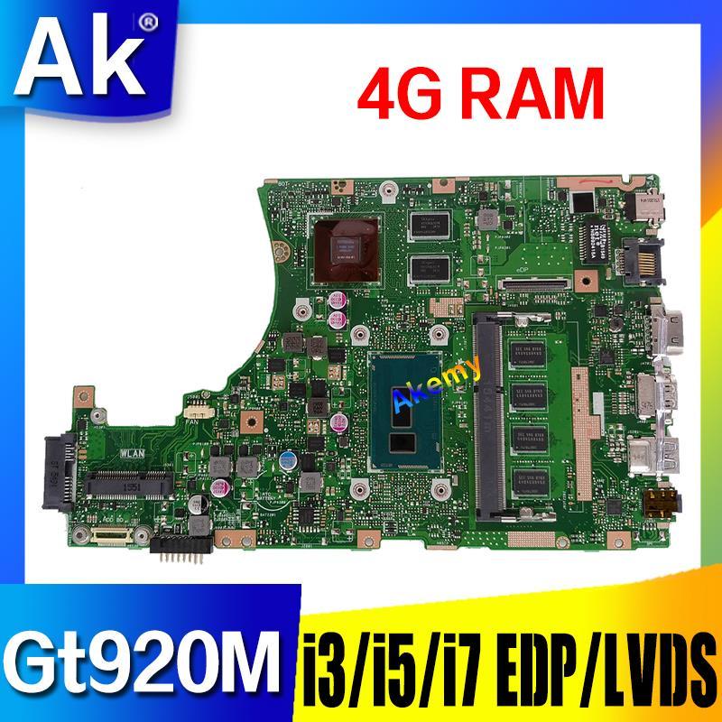 X455LJ motherboard For ASUS X455L X455LJ X455LB X455LD A455L F455L K455L Laptop mainboard 4G RAm Gt920M