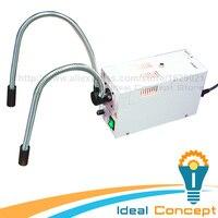 110V/220V Dual Pipe Gooseneck Fiber Optic Microscope Illuminator 24V 150W 3200K Quartz Halogen Bulb
