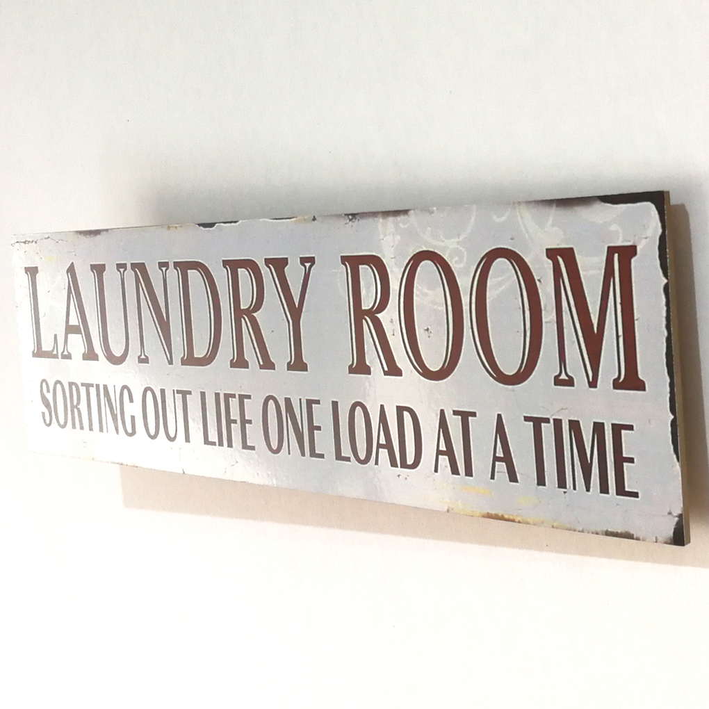 Us 6 84 34 Off Laundry Room Letters Wooden Signs Plaques Board Wall Hanging Notice Plank Panel Warning Wood Board Sign Decor In Plaques Signs From