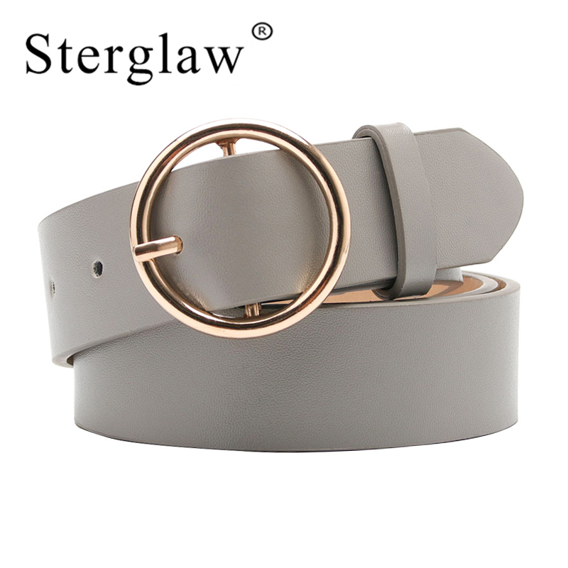 105X3.5CM New Women gray Gold Buckle Waist   Belts   For Lady Jeans Skinny Thin Leather Straps High Quality   belt   Cinturon Mujer A114