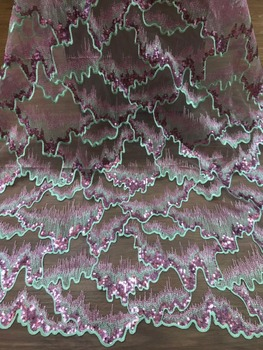 2018 Latest French sequins Nigerian Laces Fabrics High Quality Tulle African Laces Fabric Wedding African French Tulle Lace