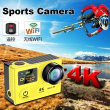 "Karue Ultra HD 4 K WIFI Sport Action Camera 360VR 1080 P Dual 2 ""LCD 170D groothoek Waterdichte Helm Cam MINI Camcorder"