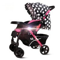JIN BAO baby strollers can sit and recline can be folded two way four wheeled baby summer and winter dual purpose trolley
