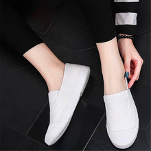 Summer new classic canvas female flat bottom one foot low to help lazy soft student casual shoes tide