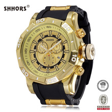 Shhors Watches Mens Watches Top Brand Luxury Alloy Case Waterproof Business Quartz Watches relojes saat erkek kol saati