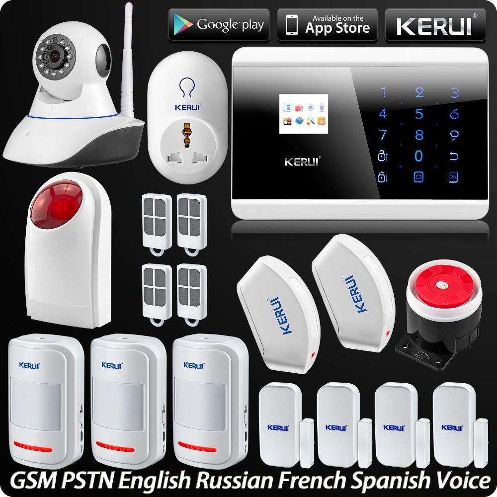 Wireless PSTN GSM Alarm System Security 720P HD IP Camera Security Wireless Flash Siren Alarma Curtain PIR Detector Smart Socket yobangsecurity home gsm pstn alarm system 433mhz voice prompt lcd keyboard wireless alarma gsm with outdoor siren flash