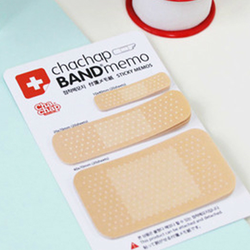 60 Sheet Creative Band-aid Shape Self-adhesive Memo Pad 3 Sizes Sticky Notes Paper Sticker Message Post Notepad