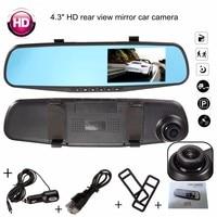 4 3 Inch FHD 1080P Video Recorder Dash Cam Rearview Mirror Car Camera DVR Digital Video