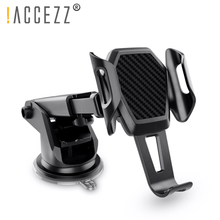 цена на !ACCEZZ Car Holder Gravity Auto Stand For iPhone X XS 8 Universal Phone 360 Degree Rotation Air Outlet Glass GPS Support Bracket