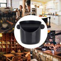Zwarte Koffie Klop Doos Expresso Maalt Afval Container Sabotage Bin Poeder Opslag Met Rubber Bar