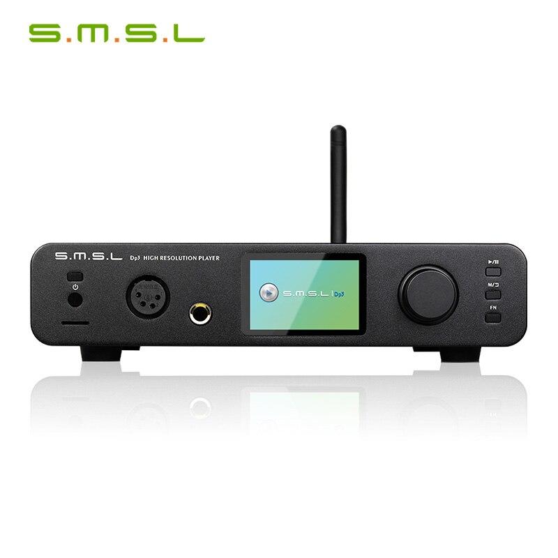 SMSL DP3 DSD HIFI Digital Turntable Hard Disk Balanced and Unbalanced Headphone Amplifier WIFI Network Music