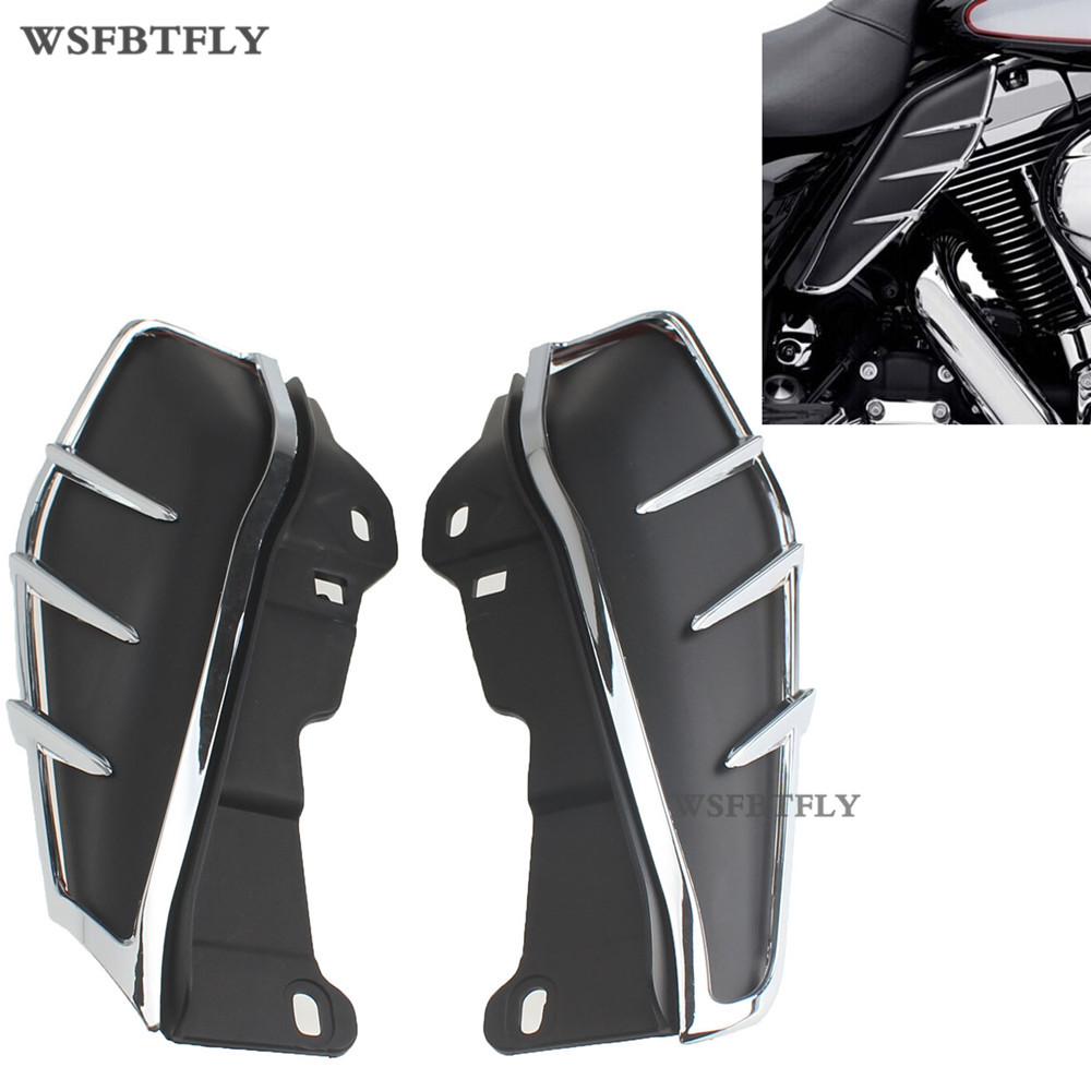 New  ABS Plastic Motorcycle Mid-Frame Air Deflectors Trims For Harley Road King FLHR 2010 -2015 11 12 13 14 brand new silver color motortcycle accessories abs plastic led tail light fit for harley harley iron 883 xl883n xl1200n chopped