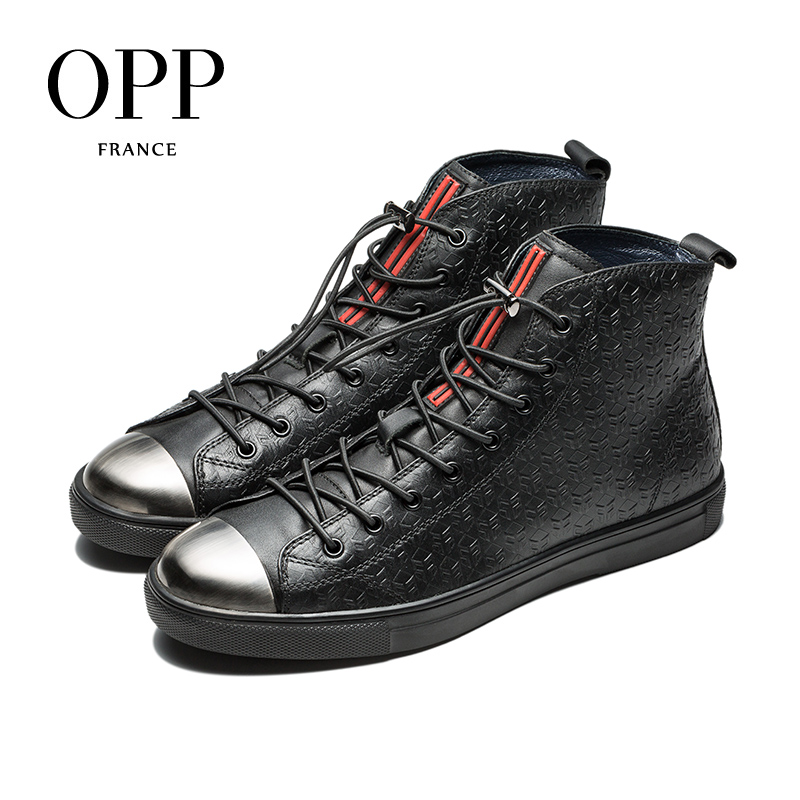OPP Fretwork Men Shoes Men Boots Genuine Leather Metal Toe Shoes Ankle Boots for men Winter Boots men High Top MetalOPP Fretwork Men Shoes Men Boots Genuine Leather Metal Toe Shoes Ankle Boots for men Winter Boots men High Top Metal