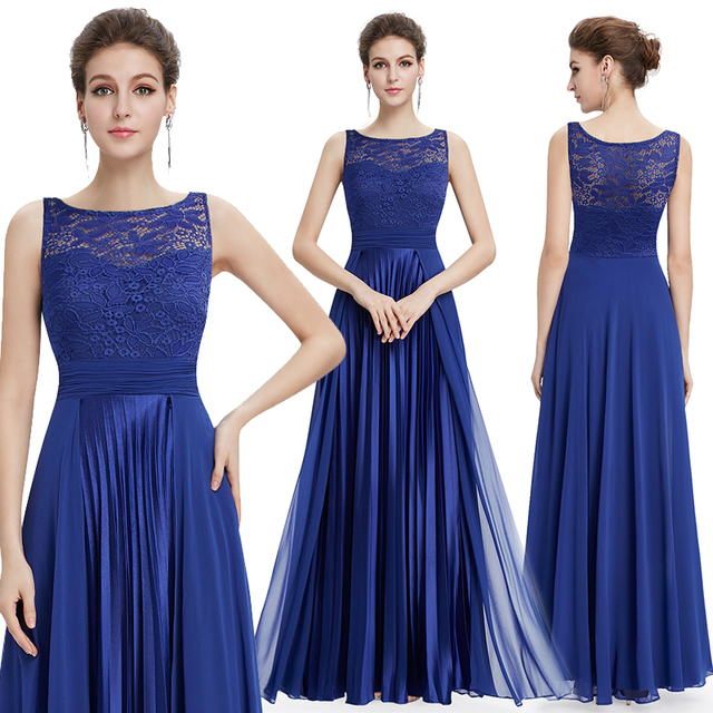 Ever Pretty Evening Dresses Gorgeous Formal Round Neck Lace Long Sexy Red Women Party 2020 EP08352 Special Occasion Party Dress 4