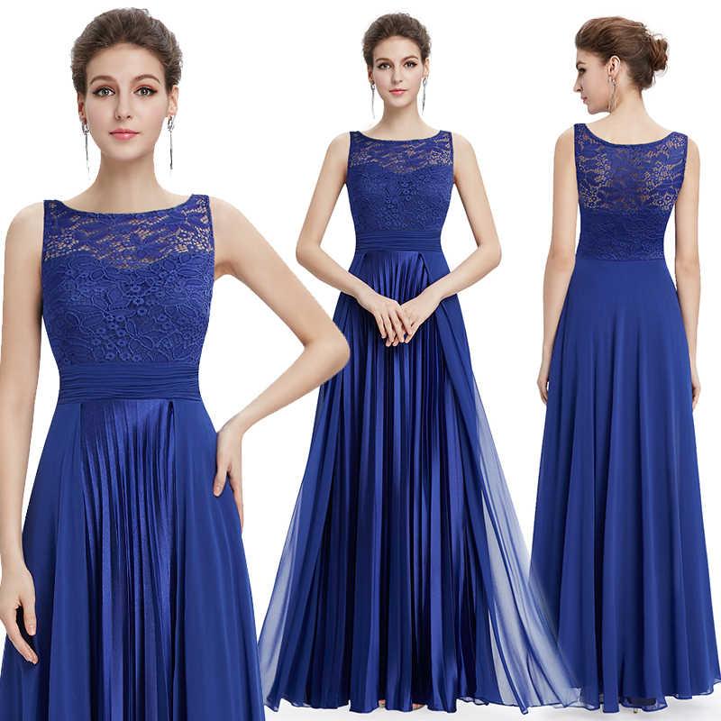 Женские вечерние платья Ever Pretty, длинное кружевное красное платье с круглым вырезом для вечеринки, для особых случаев, EP08352,лето 2019