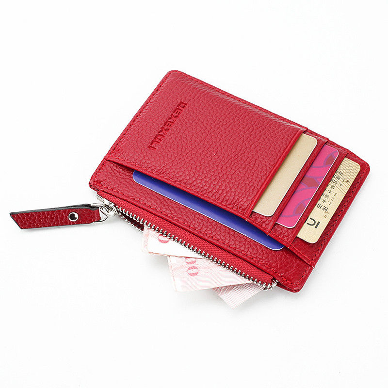 2018 New Women Credit Card Holder Fashion PU Leather Metal Card Holder  Automatic Money Cash Clip Mini Wallet