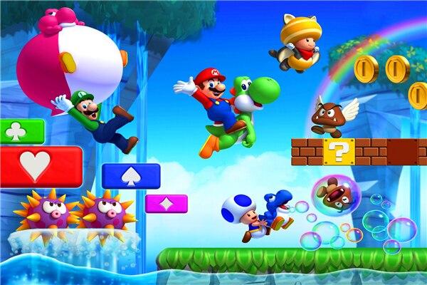Adesivi Murali Super Mario Bros.Personalizzato Arte Della Tela Di Super Mario Poster Super Mario