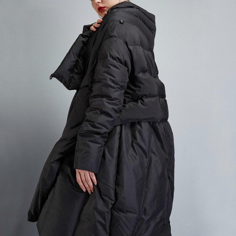Cape Manteau Femme Duvet De Canard Femmes Ayunsue Black Parka 2018 Nouveau Manteaux D'hiver Feminina Kj610 Dames Long Veste ZkiuXOP