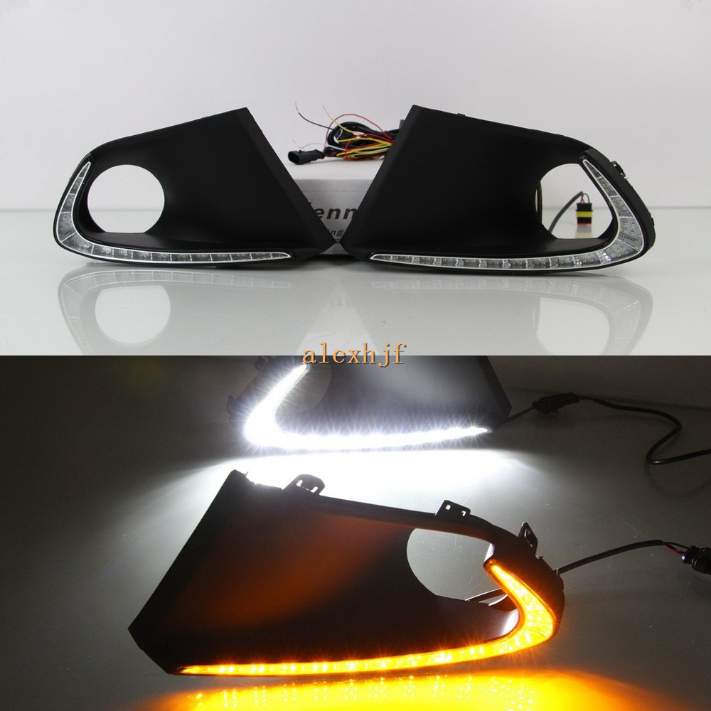 July King LED Daytime Running Lights DRL Case for Suzuki Baleno 2016~ON, LED Fog Lamp With Yellow Turn Signals july king led daytime running lights drl at headlight lamp eyebrow yellow turn signals case for buick ncore opel mokka 2013 on