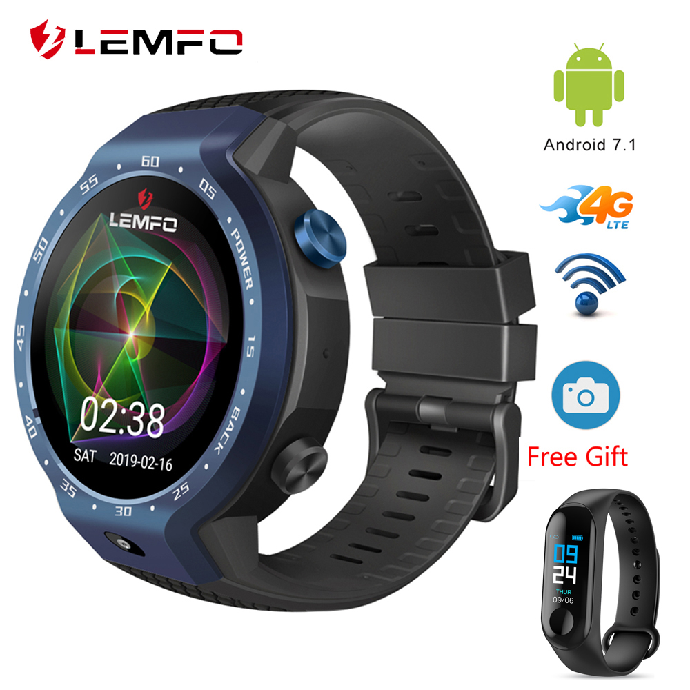 LEMFO LEM9 Smart Watch Support LTE 4G Phone Call Heart Rate Tracker For Android iOS Double
