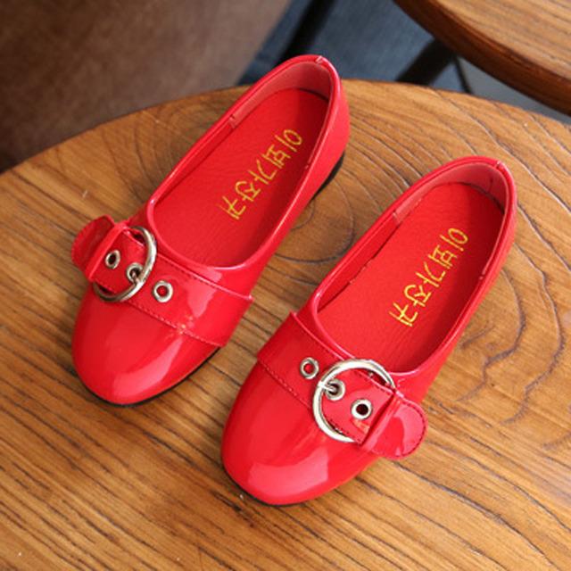 Niños chicas ballet shoes 2017 primavera patente pu niños niñas bailarinas niños princes shoes casual