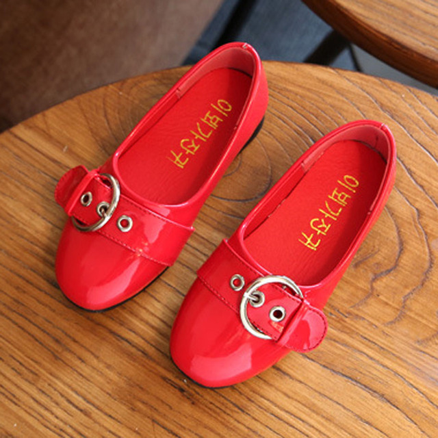 Toddlers Girls Ballet Shoes 2017 Spring Patent PU Kids Girls Ballerinas Children Princes Shoes for Casual