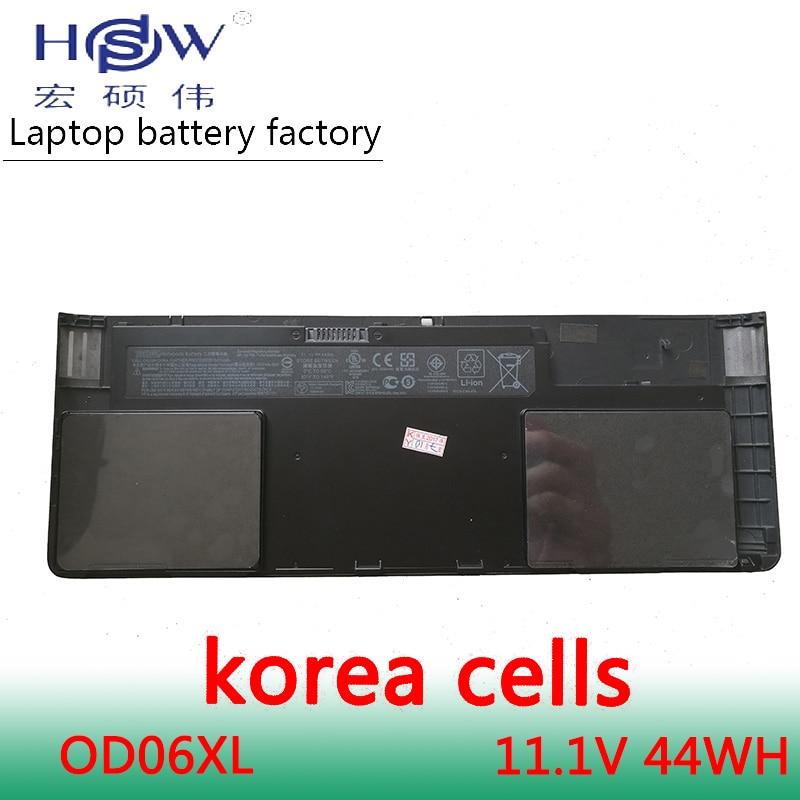HSW Nouvelle batterie d'ordinateur portable pour HP OD06XL HSTNN-IB4F H6L25UT EliteBook Revolve 810 Tablette H6L25AA 698943-001 batterie batterie d'ordinateur portable